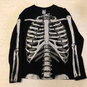 Skeleton long sleeve T-shirt Halloween size L